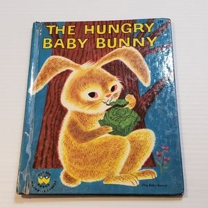Vintage 1951 The Hungry Baby Bunny Book Easter